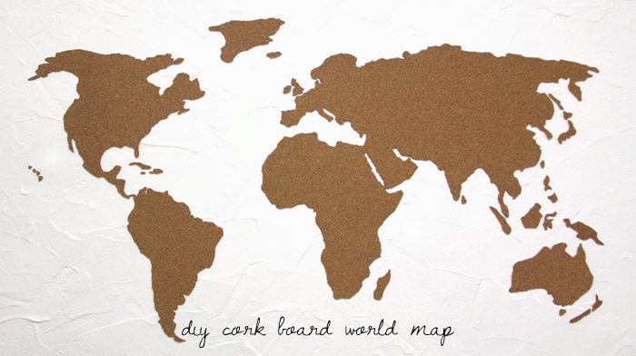 diy cork board world map
