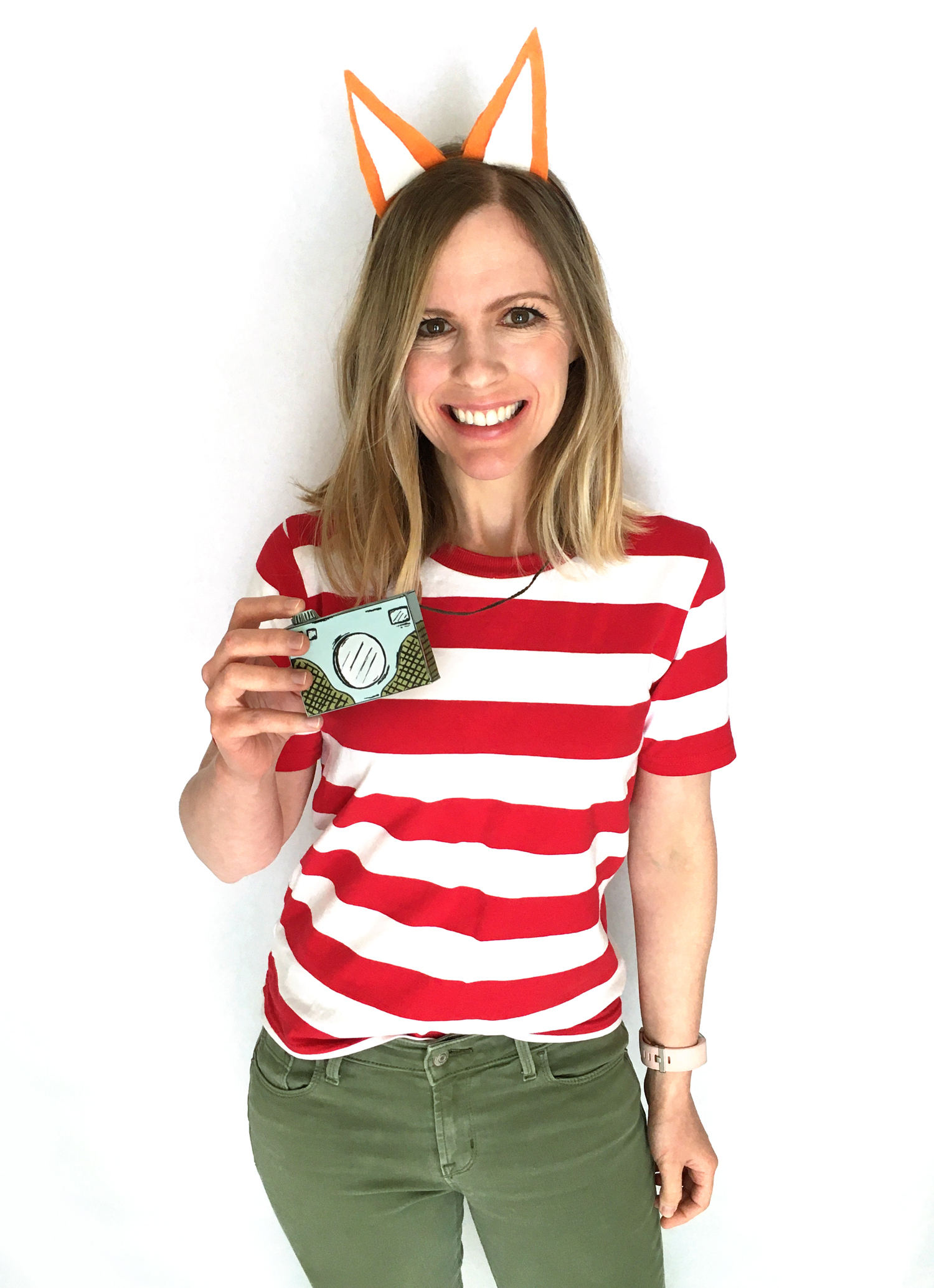 last minute halloween costume - diy picture book character costume, fox costume, fitz the fox, easy book week costume idea, kids halloween costume idea