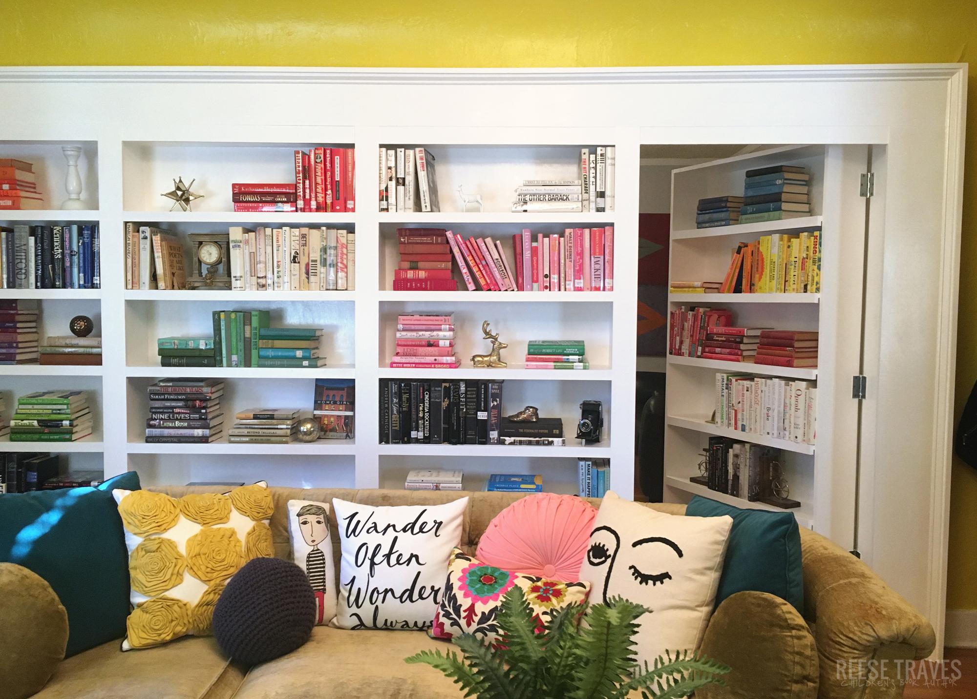 hidden bookshelf door, hidden door to room, hidden bookcase door on casters