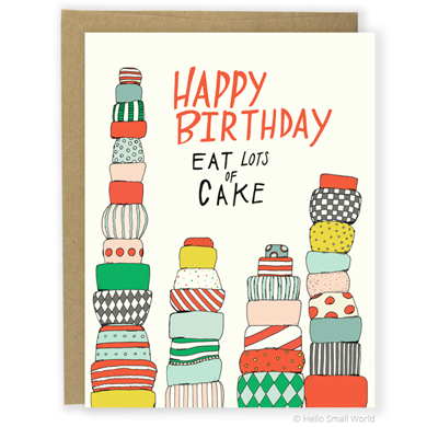 Eat Lots of Cake Card