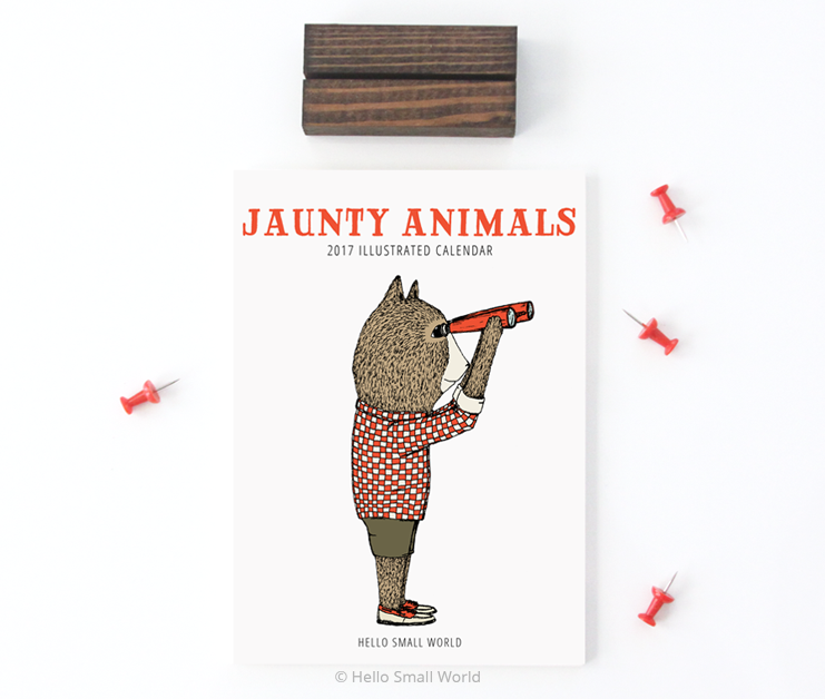 2017 Jaunty Animals calendar
