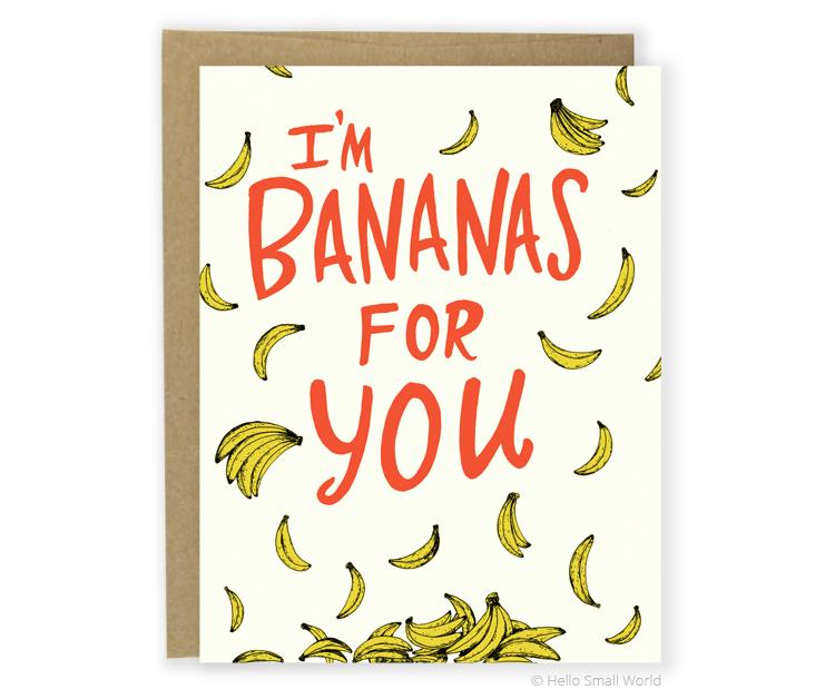 bananas for you card