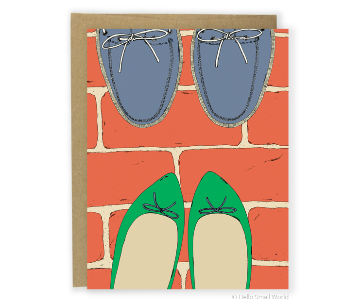 boat shoes and flats card