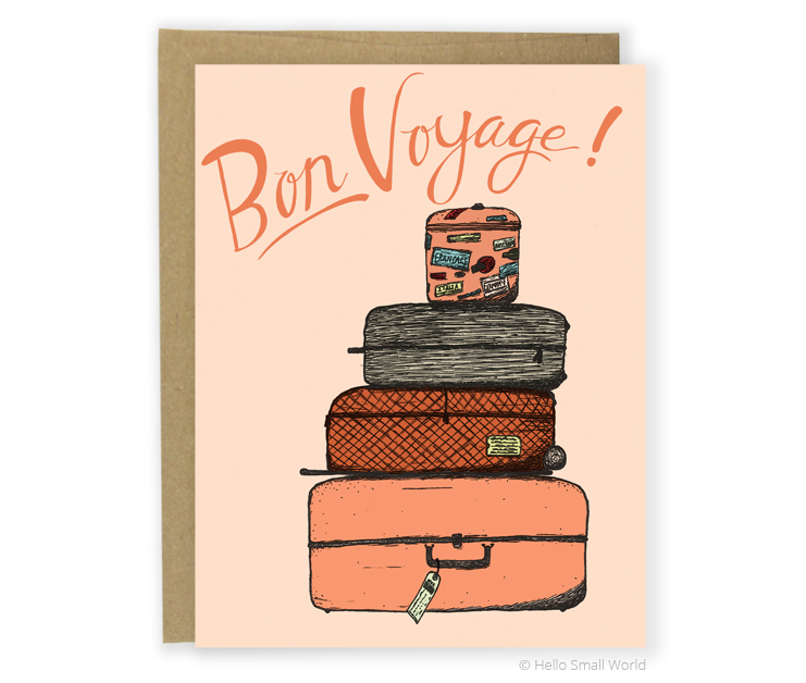 bon voyage luggage card
