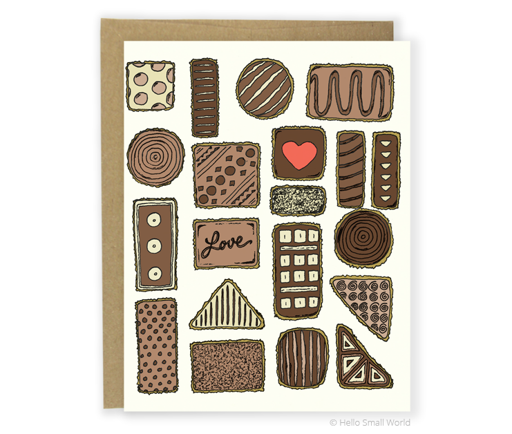 box of chocolates card
