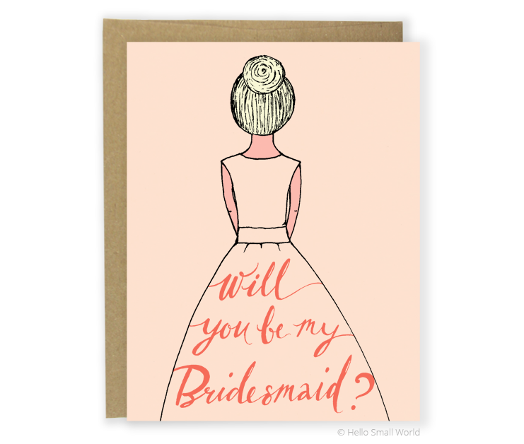 bridesmaid blonde card