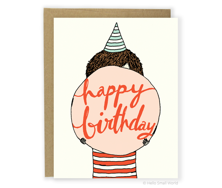 bubble gum birthday card