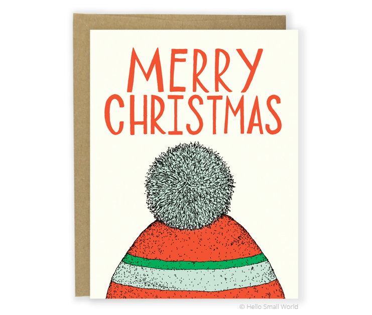 christmas toboggan card