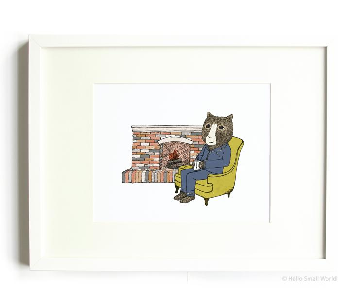 cocoa bear 8x10 print