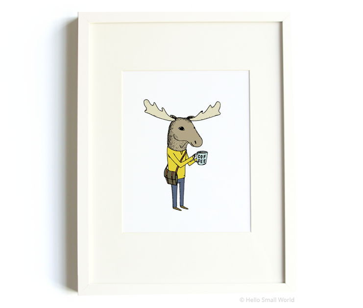 coffee moose 8x10 print