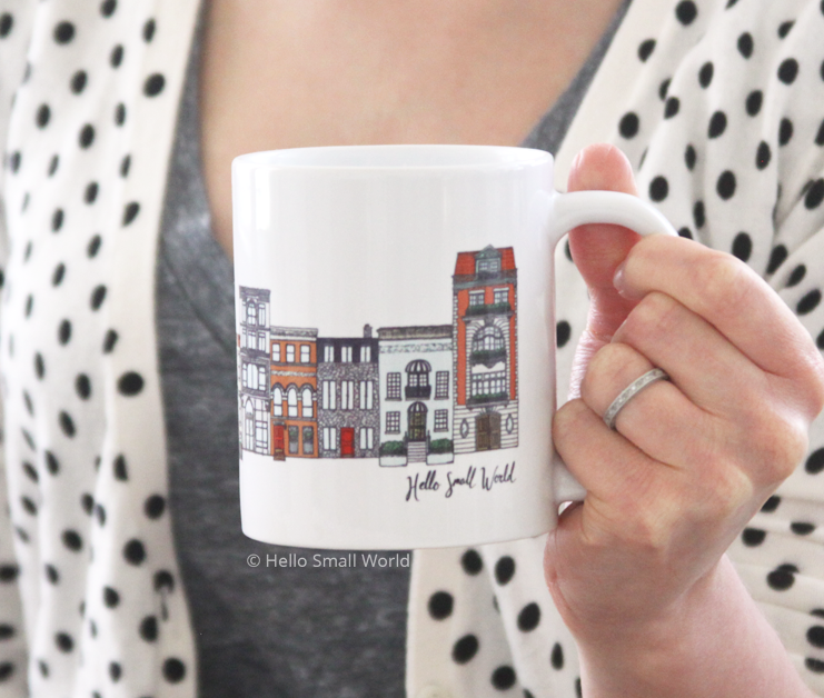 color architecture mug