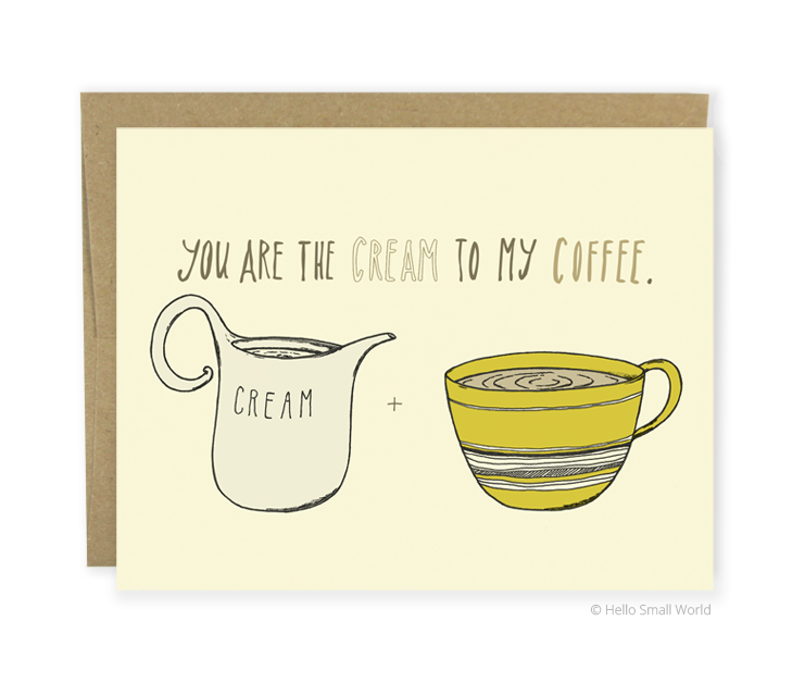 cream to coffee card