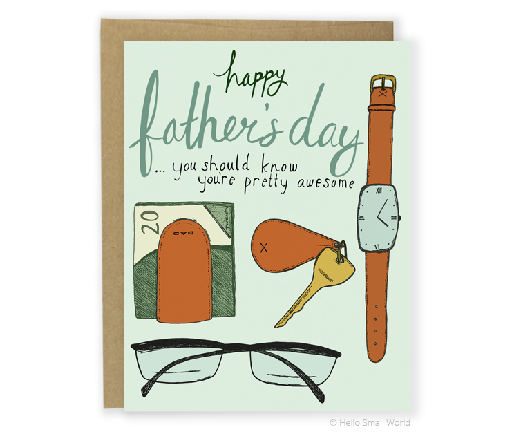dad stuff fathers day card