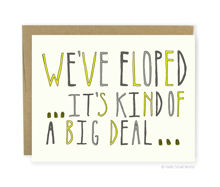elope big deal card
