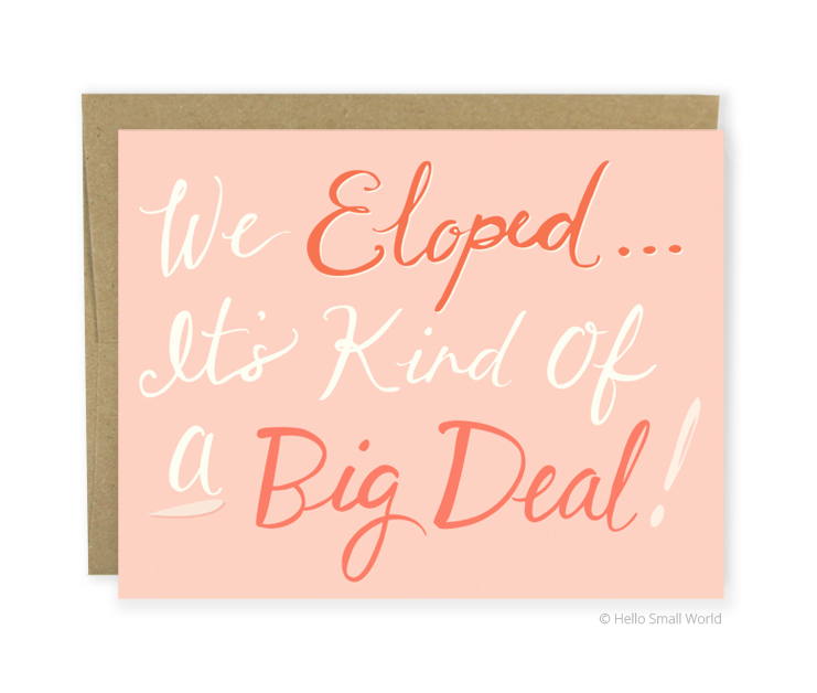 elope big deal script card