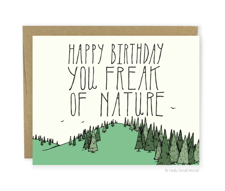 freak of nature birthday card