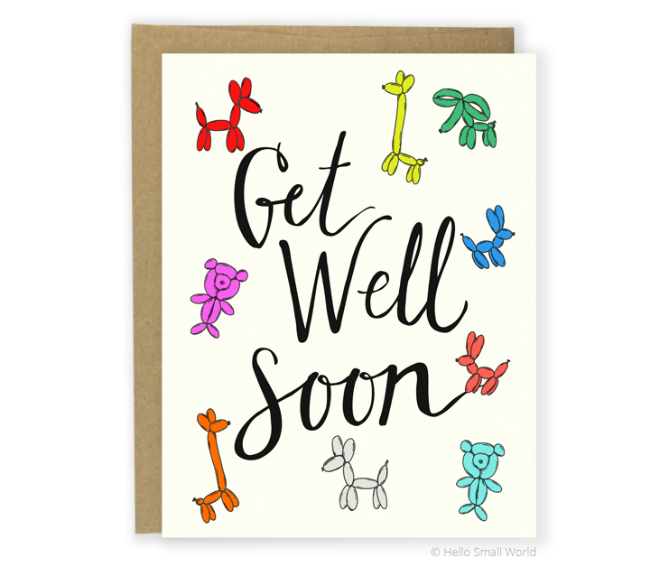 get well soon balloon anim