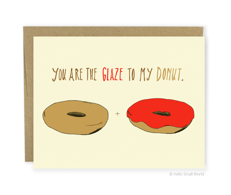 glaze to donut card