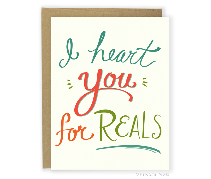 heart for reals card