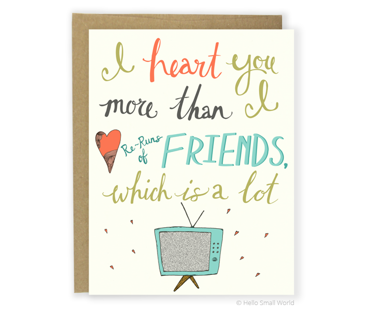 heart friends card