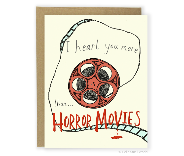 heart horror movies card