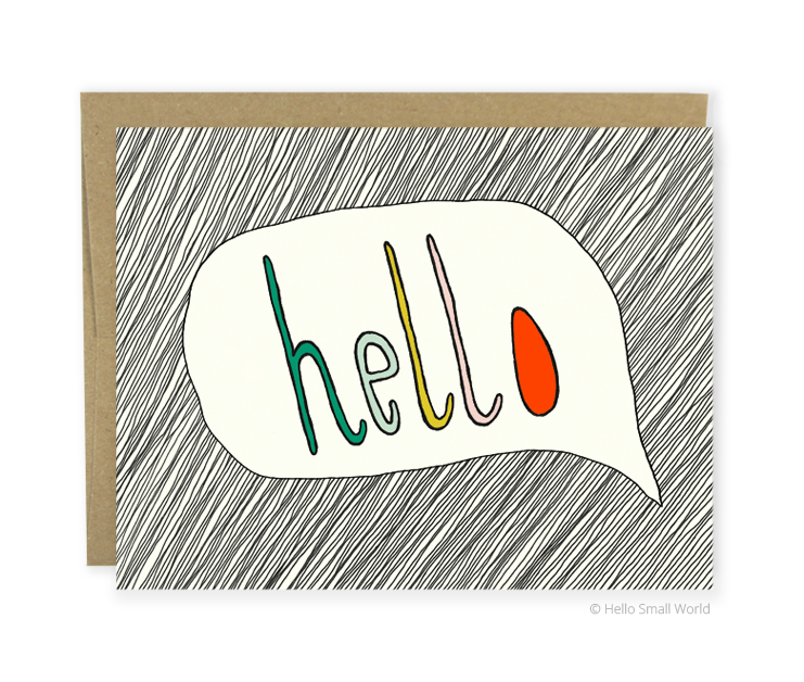 hello bubble card