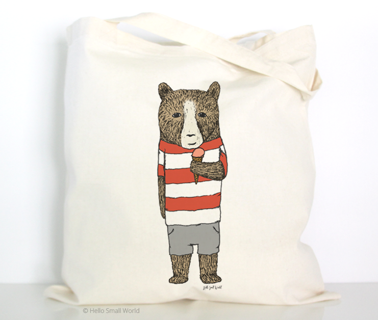 ice cream bear tote