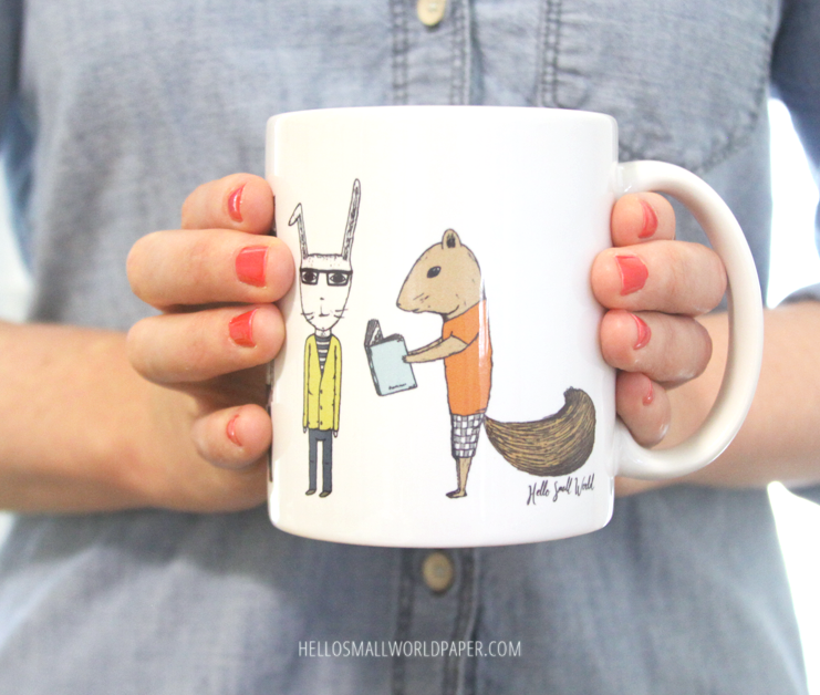 jaunty animals mug