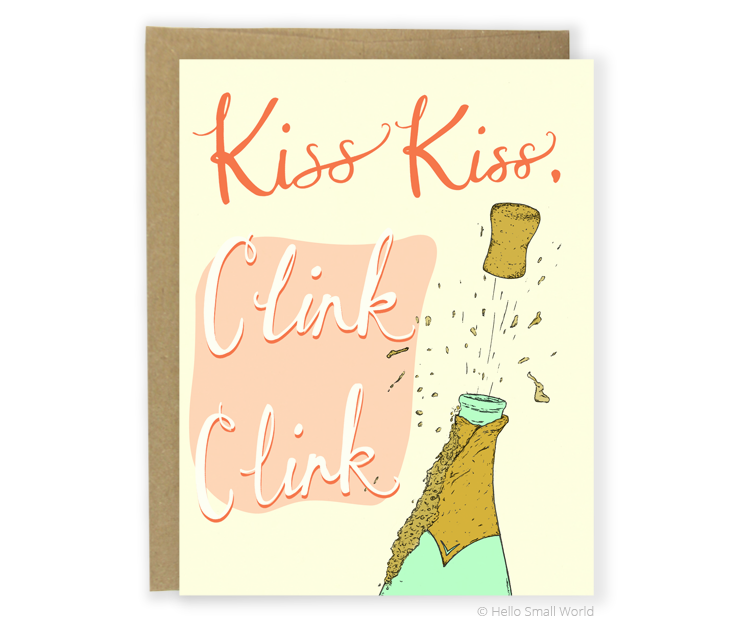 kiss kiss clink clink card
