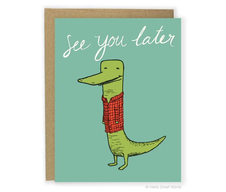 later alligator card