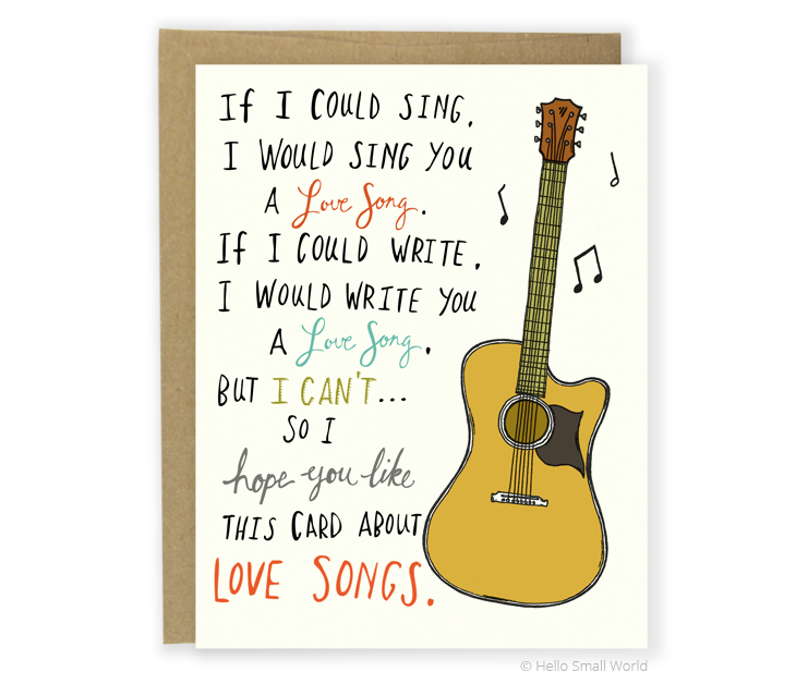love song card