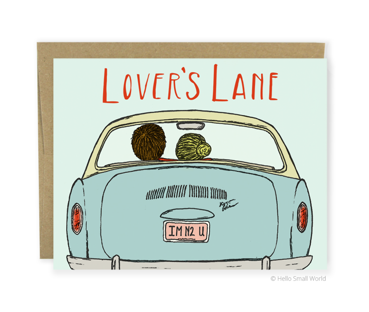 lovers lane card