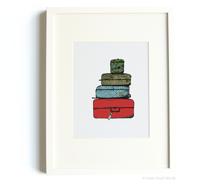 luggage 8x10 print