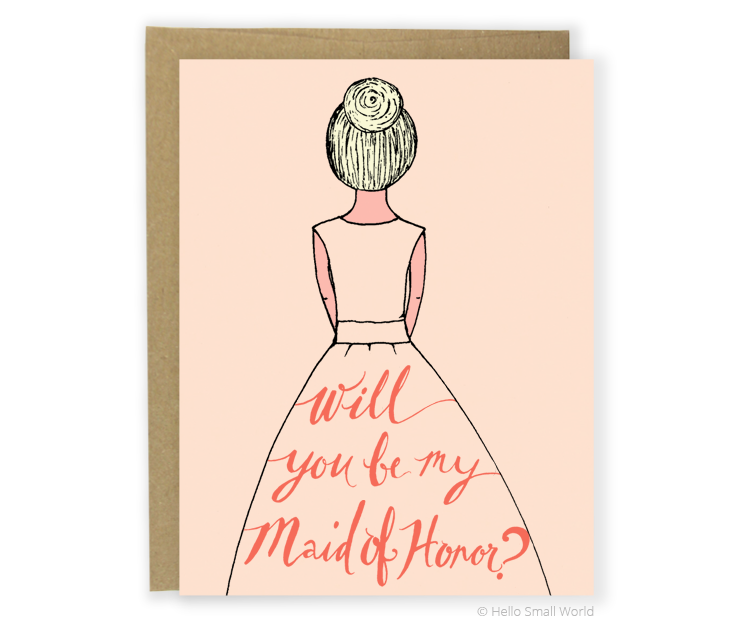 maid of honor blond card