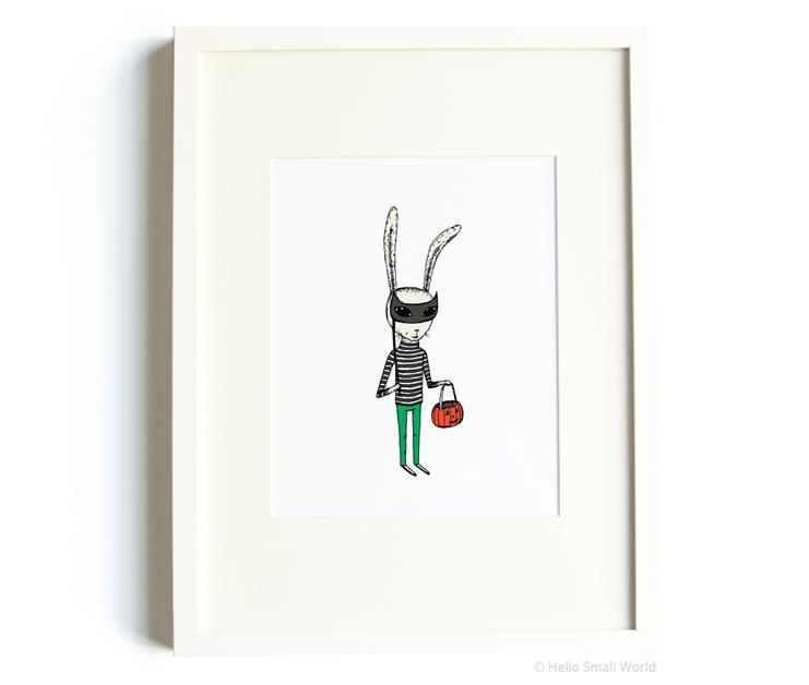 masquerade rabbit 8x10 print