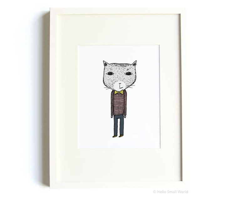 mr cat 8x10 print