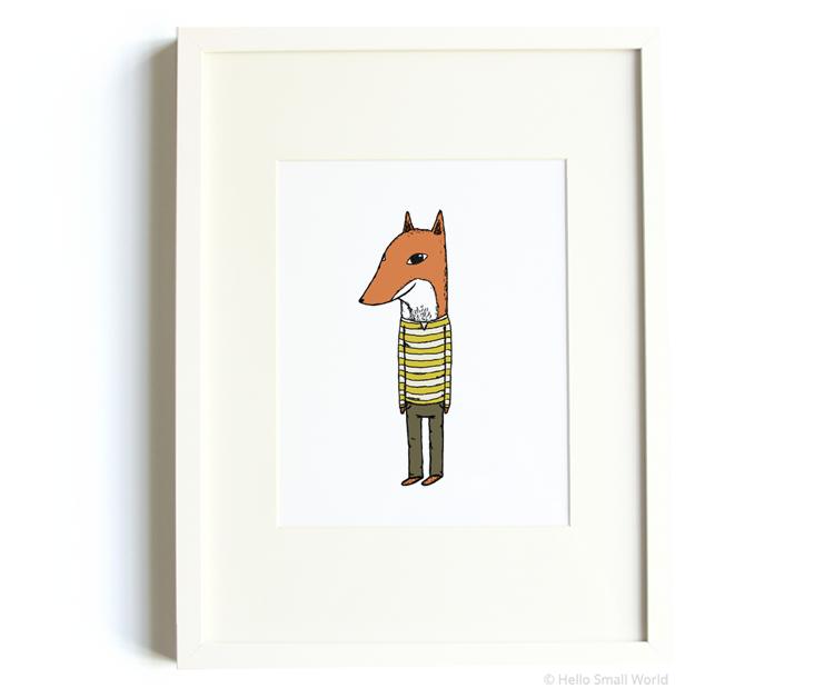 mr fox 8x10 print