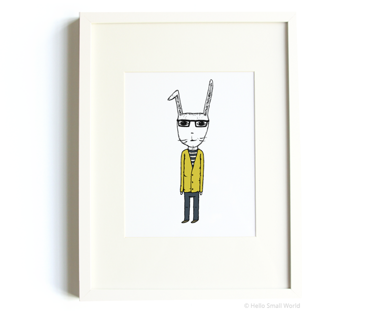 mr rabbit 8x10 print