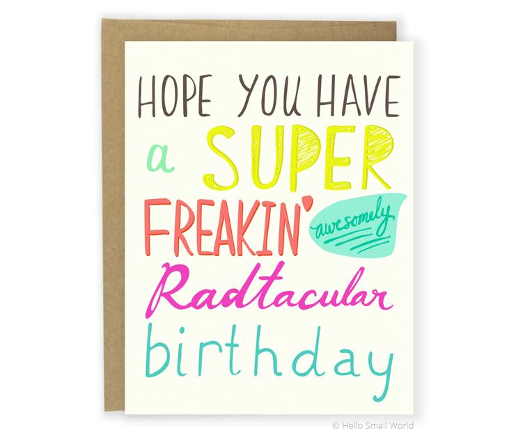 radtacular birthday card