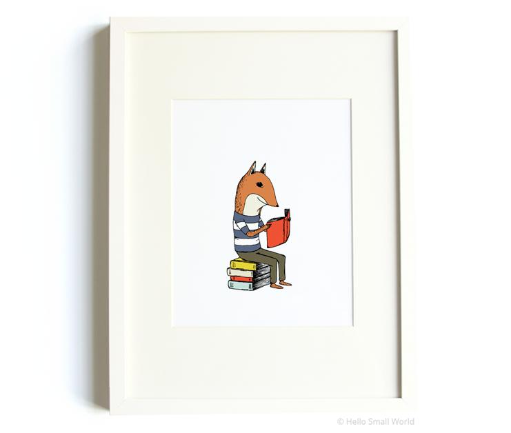 reading fox 8x10 print