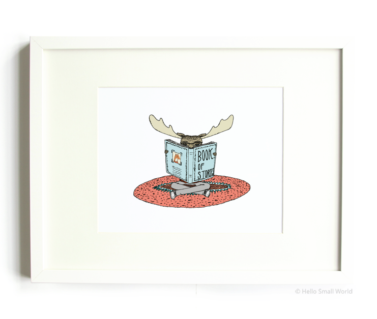 reading moose 8x10 print
