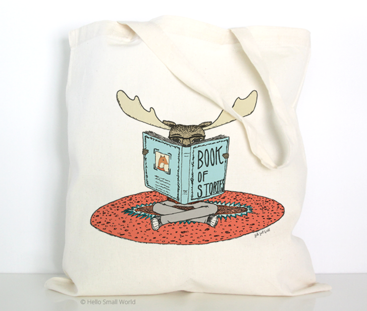 reading moose tote