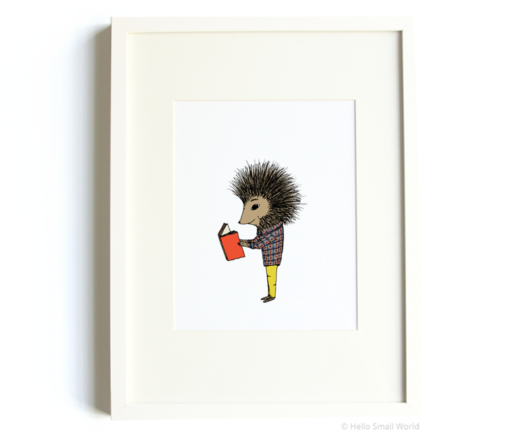 reading porcupine 8x10 print