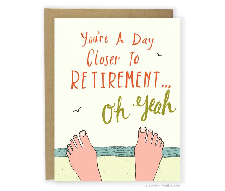 retirement beach card