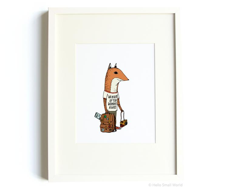 road trip fox 8x10 print