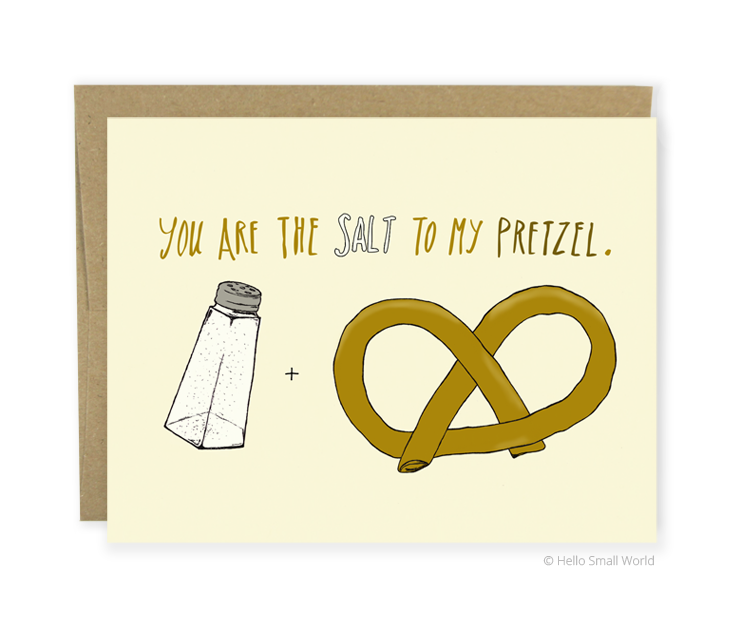 salt to pretzel card
