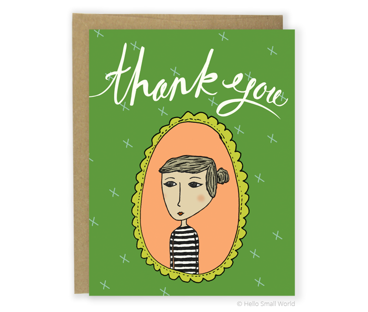 thank you stripe girl card