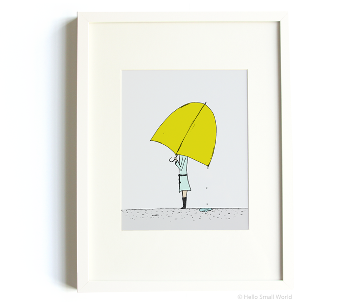 umbrella girl 8x10 print