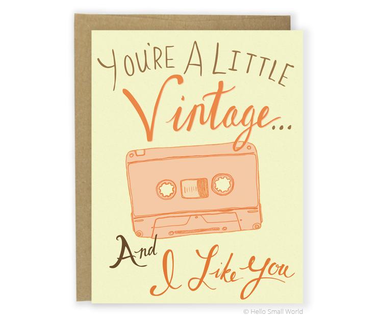 vintage cassett card