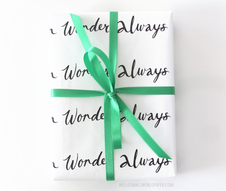 wander often wonder always gift wrap